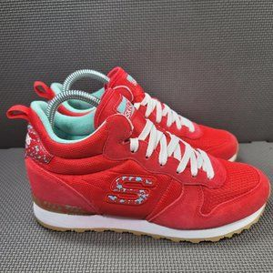 Womens Sz 9 Red Skechers Air Cooled Sneakers